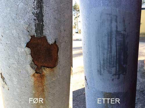 Zinga til å reparere varmgalvanisert stolpe